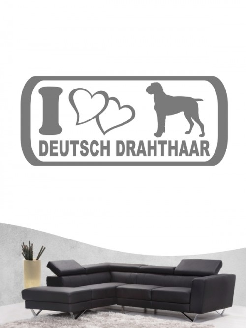 Deutsch Drahthaar 6b Wandtattoo