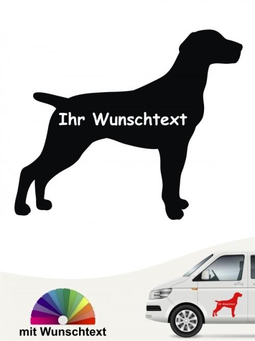 Deutsch Kurzhaar Silhouette mit Wunschtext anfalas.de