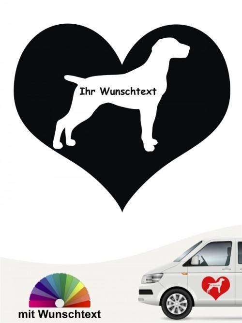 Deutsch Kurzhaar Herzmotiv mit Wunschtext anfalas.de