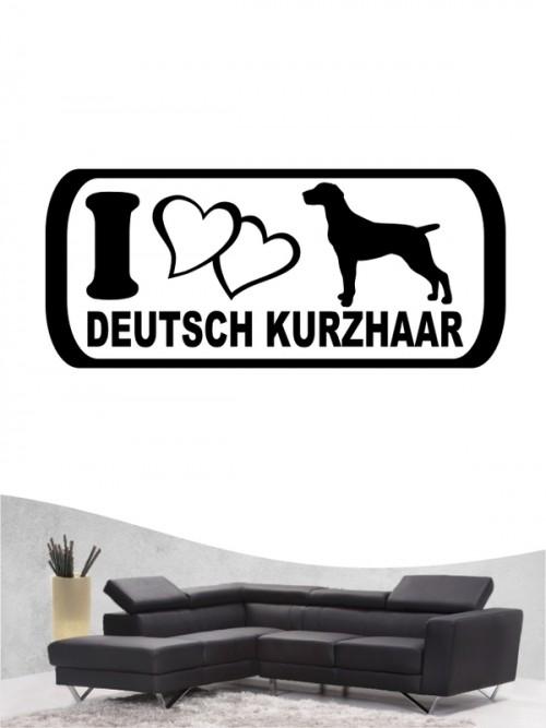 Deutsch Kurzhaar 6 - Wandtattoo
