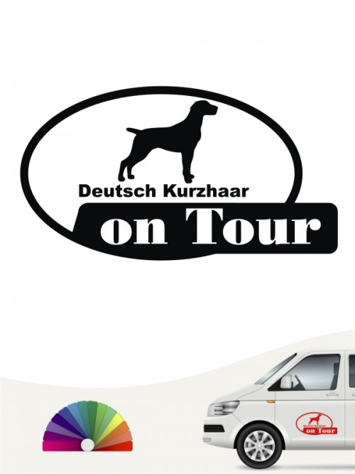 Deutsch Kurzhaar on Tour Hundeaufkleber anfalas.de
