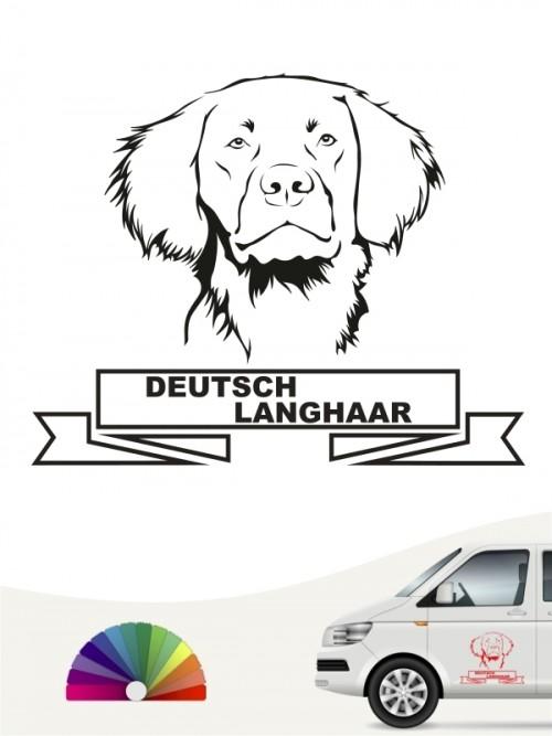Hunde-Autoaufkleber Deutsch Langhaar 15 von Anfalas.de