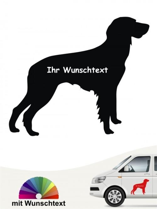 Deutsch Langhaar Silhouette mit Wunschname anfalas.de