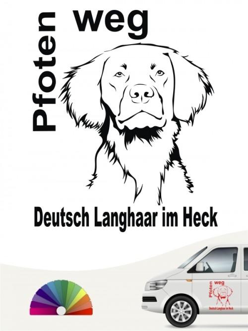 Pfoten weg Deutsch Langhaar Hundeaufkleber anfalas.de