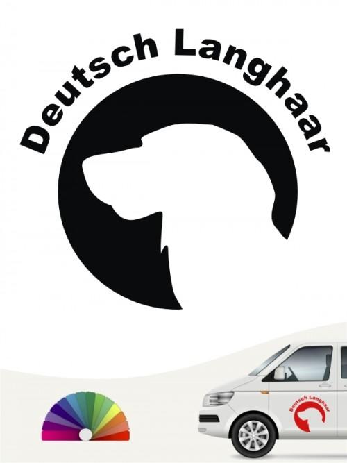 Deutsch Langhaar Aufkleber von anfalas.de
