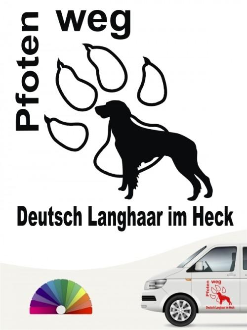 Deutsch Langhaar Pfoten weg Hundeaufkleber anfalas.de