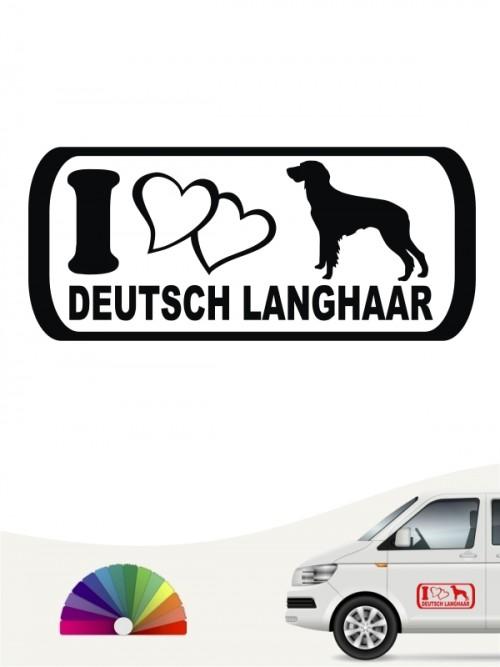 I Love Deutsch Langhaar Heckscheibenaufkleber anfalas.de