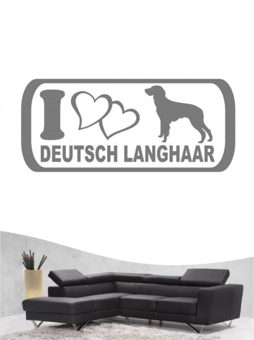 Deutsch Langhaar 6 - Wandtattoo