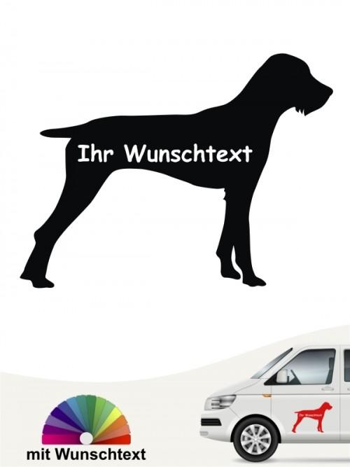 Deutsch Stichelhaar Silhouette mit Wunschtext anfalas.de