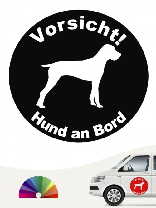 Deutsch Stichelhaar Aufkleber von anfalas.de