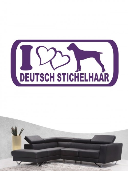 Deutsch Stichelhaar 6 - Wandtattoo
