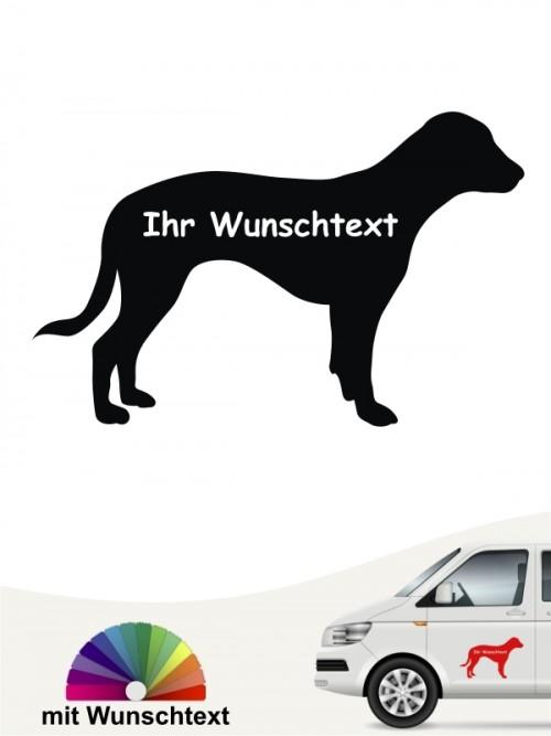 Deutsche Bracke Silhouette mit Wunschtext anfals.de