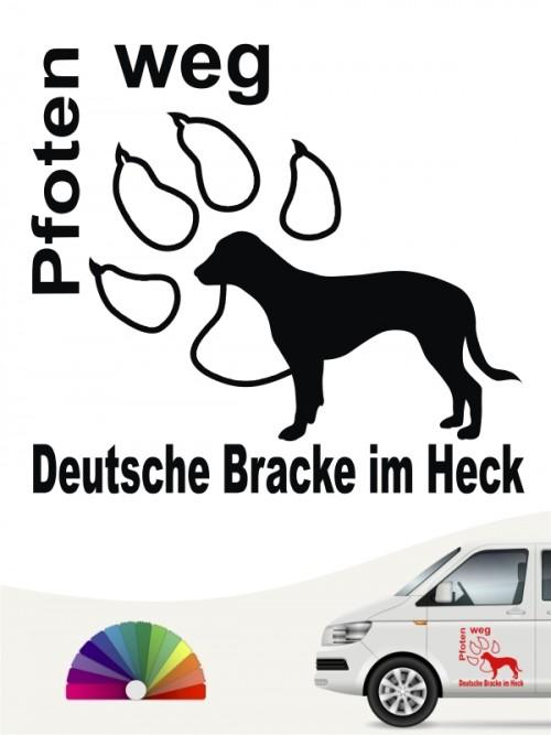 Deutsche Bracke Pfoten weg Sticker anfalas.de