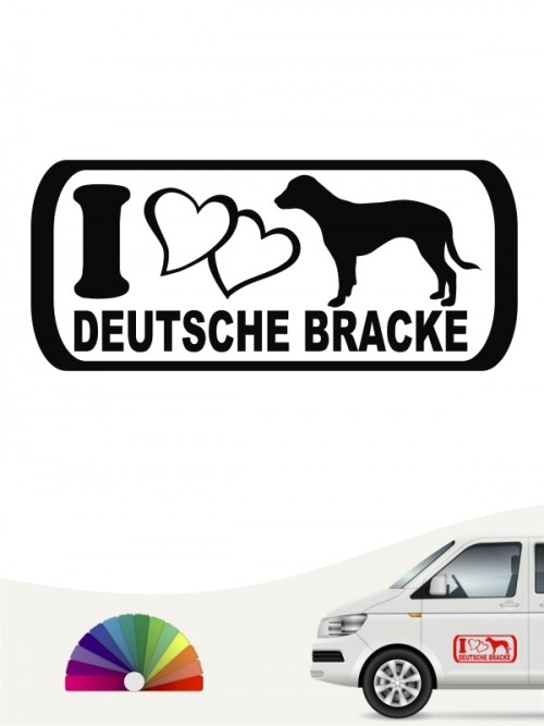 I Love Deutsche Bracke Sticker anfalas.de