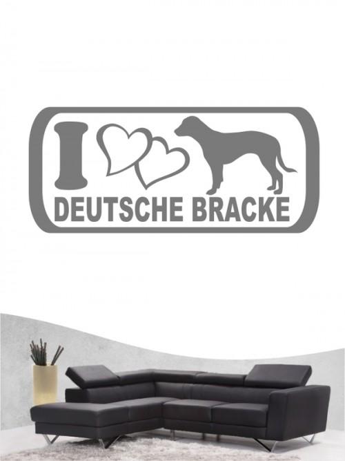 Deutsche Bracke 6 - Wandtattoo