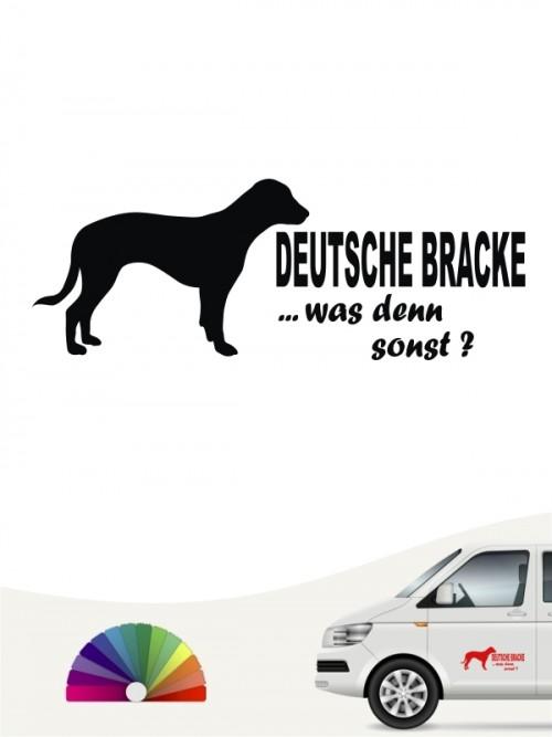 Deutsche Bracke was denn sonst Autosticker anfalas.de