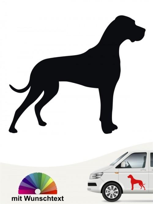 Deutsche Dogge Heckscheibenaufkleber versch. Farben anfalas.de