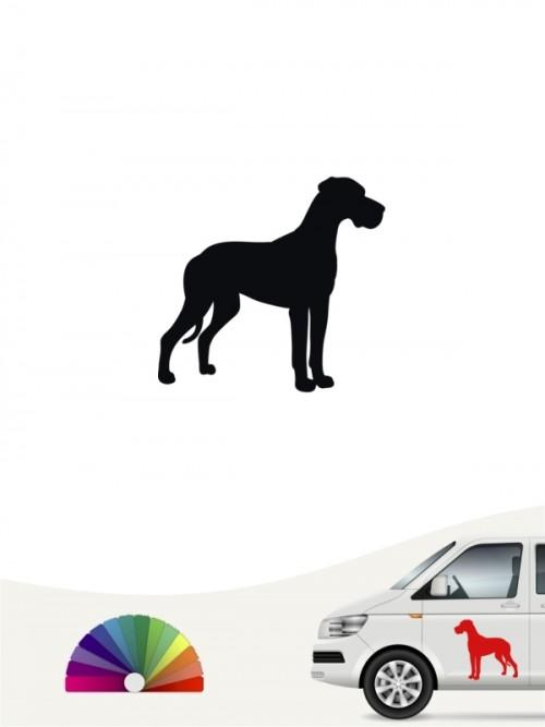 Deutsche Dogge Heckscheibenaufkleber anfalas.de