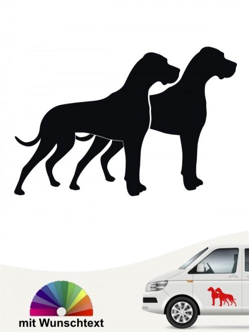 Deutsche Doggen Silhouetten versch. Farben anfalas.de