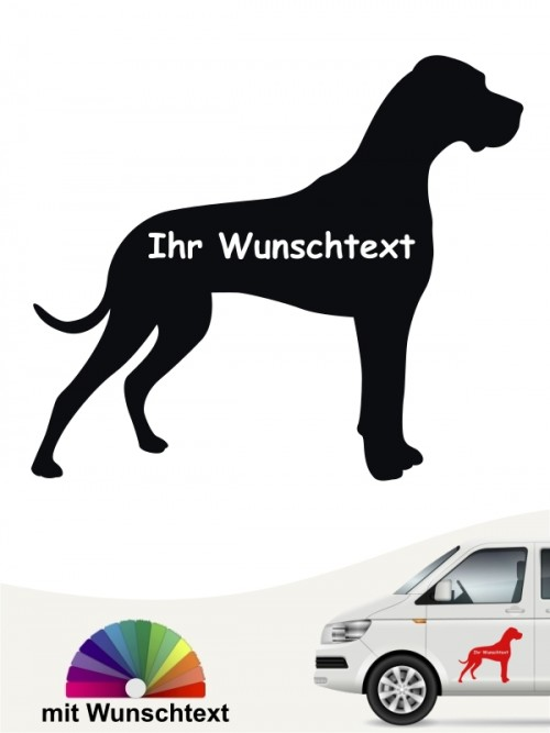 Deutsche Dogge Silhouette mit Wunschname anfalas.de