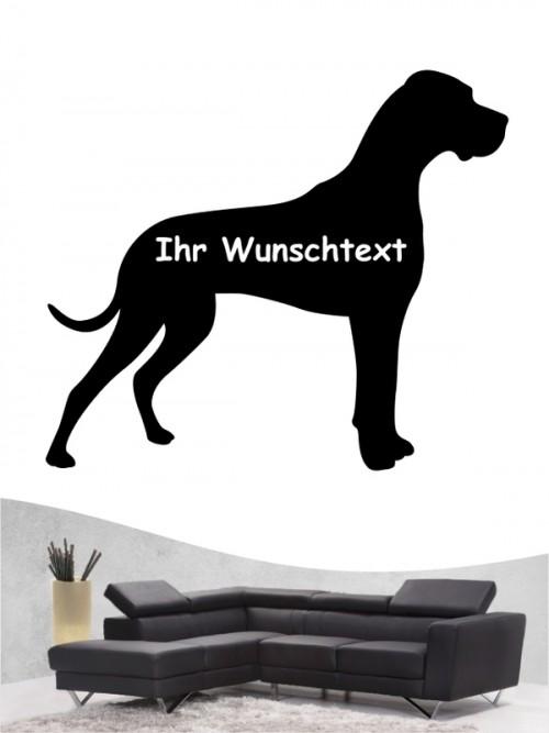 Deutsche Dogge 3 Wandtattoo