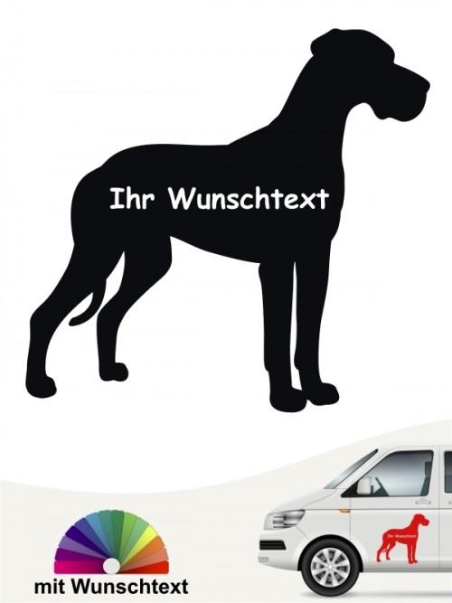 Deutsche Dogge Autoaufkleber mit Wunschname anfalas.de