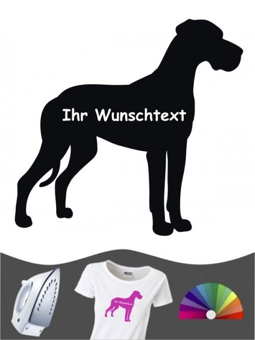 Deutsche Dogge 3a Bügelbild