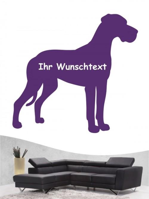 Deutsche Dogge 3a Wandtattoo