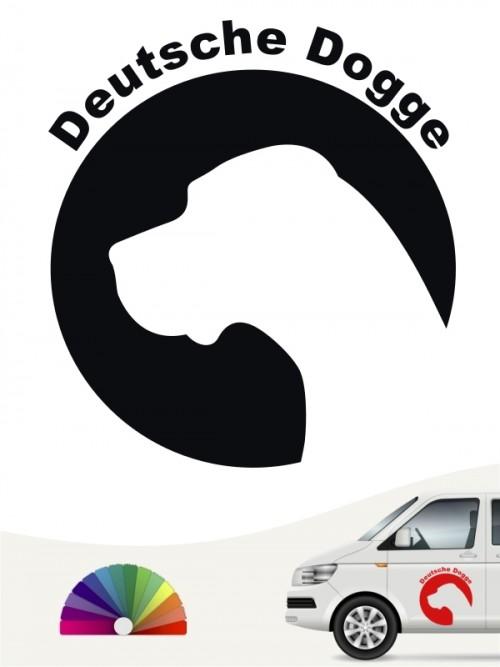 Deutsche Dogge Aufkleber von anfalas.de