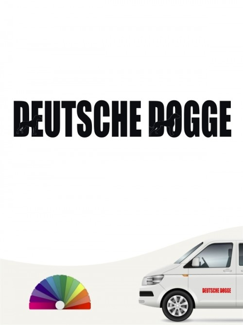 Deutsche Dogge Autoaufkleber von anfalas.de