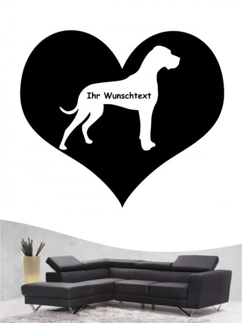 Deutsche Dogge 4 Wandtattoo