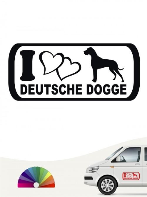 I Love Deutsche Dogge Autosticker anfalas.de