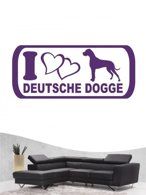 Deutsche Dogge 6 Wandtattoo