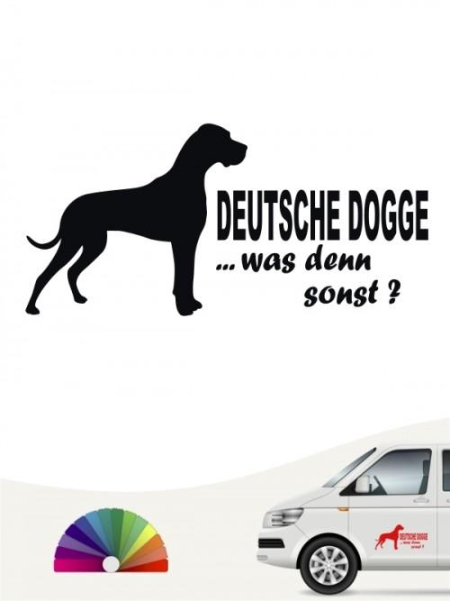Was denn sonst Deutsche Dogge Sticker anfalas.de