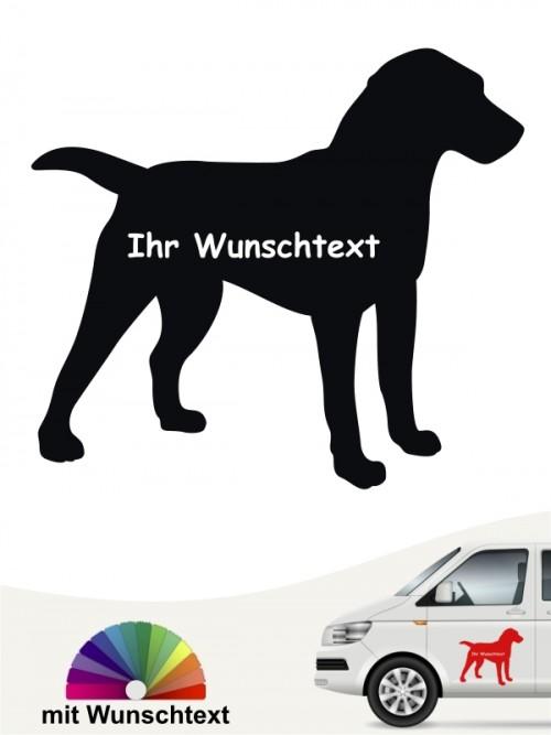 Deutscher Jagdterrier Silhouette mit Wunschname anfalas.de