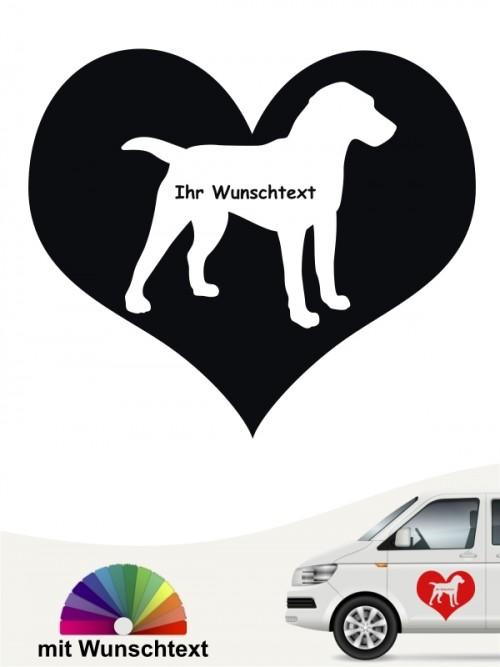 Herzmotiv Deutscher Jagdterrier mit Wunschname anfalas.de