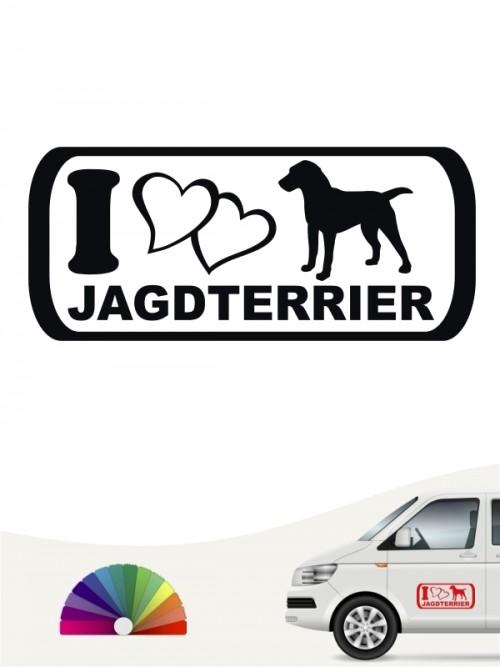 Jagdterrier I Love Hundeaufkleber anfalas.de