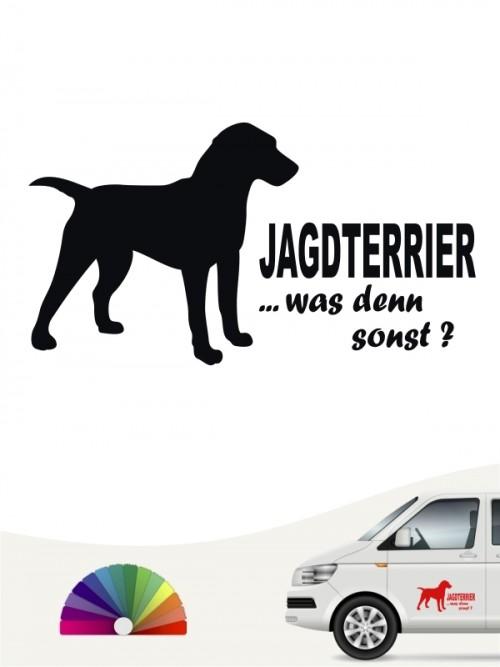 Jagdterrier was denn sonst Heckscheibenaufkleber anfalas.de