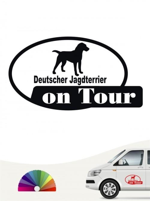 Deutscher Jagdterrier on Tour Autosticker versch. Farben anfalas.de
