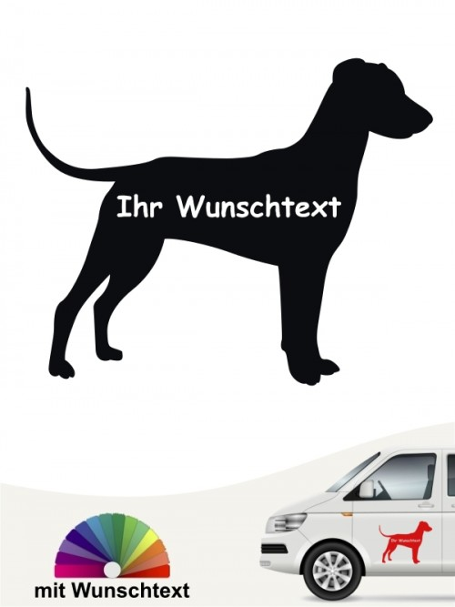 Deutscher Pinscher mit Wunschname Autoaufkleber anfalas.de