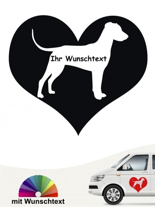 Deutscher Pinscher Autoaufkleber mit Wunschname anfalas.de