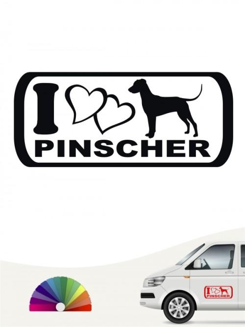 I Love Pinscher Autosticker versch. Farben anfalas.de