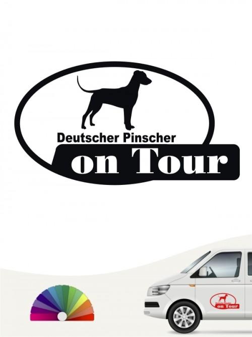 Deutscher Pinscher on Tour Aufkleber anfalas.de