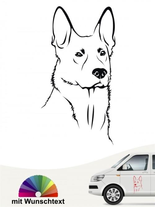 Deutscher Schäferhund Kopf Aufkleber anfalas.de