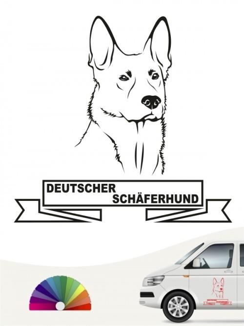 Hunde-Autoaufkleber Deutscher Schäferhund 15 von Anfalas.de