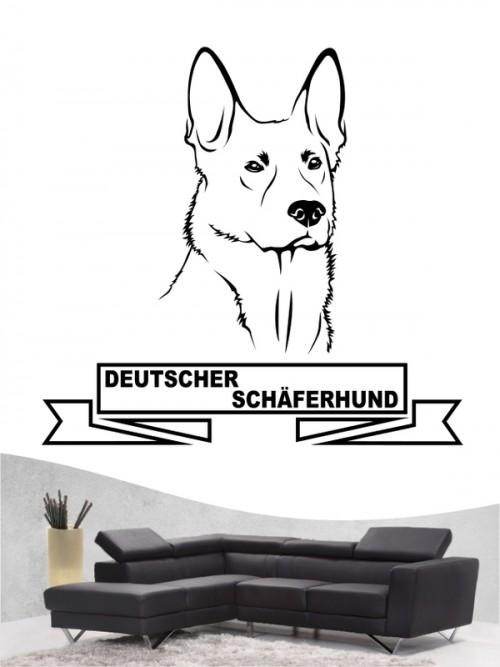 Hunde-Wandtattoo Deutscher Schäerhund 15 von Anfalas.de