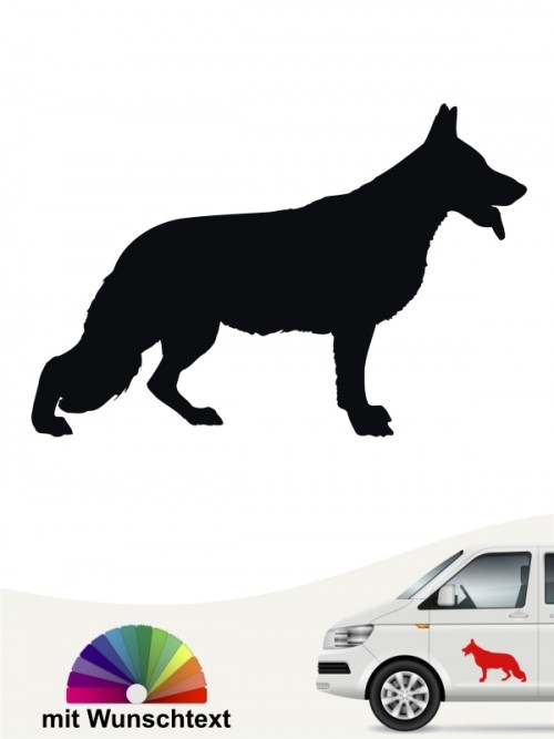 Deutscher Schäferhund Hundeaufkleber mit Wunschtext anfalas.de
