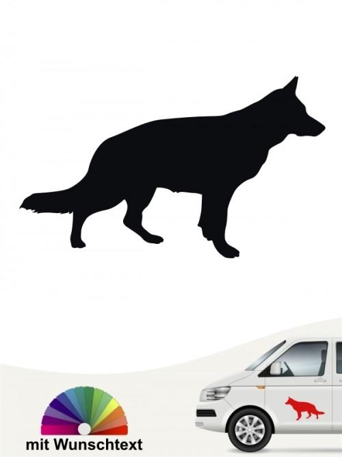 Hundeaufkleber Dt. Schäferhund versch. Farben anfalas.de