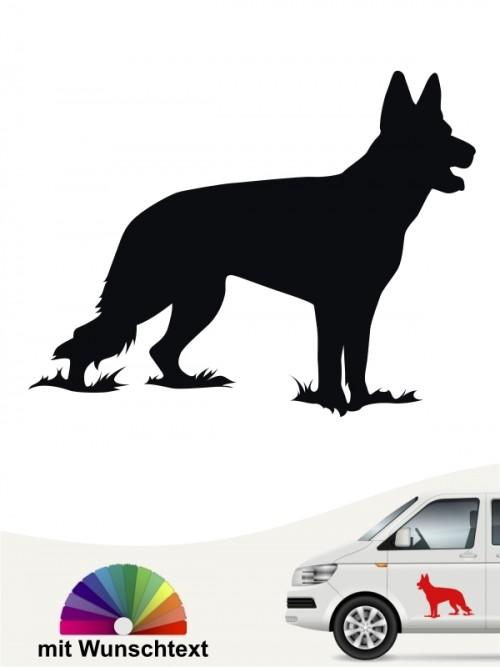 Deutscher Schäferhund Silhouette mit Wunschtext anfalas.de