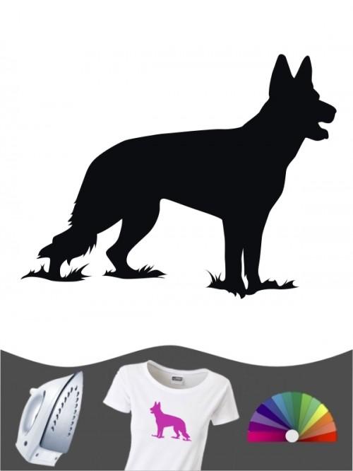 Deutscher Schäferhund 1c - Bügelbild